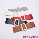 Red House 蕾赫斯-水鑽寬版彈性腰封(共5色)