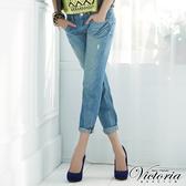 Victoria 天絲棉波浪配線BF褲-女-淺藍-VW5043