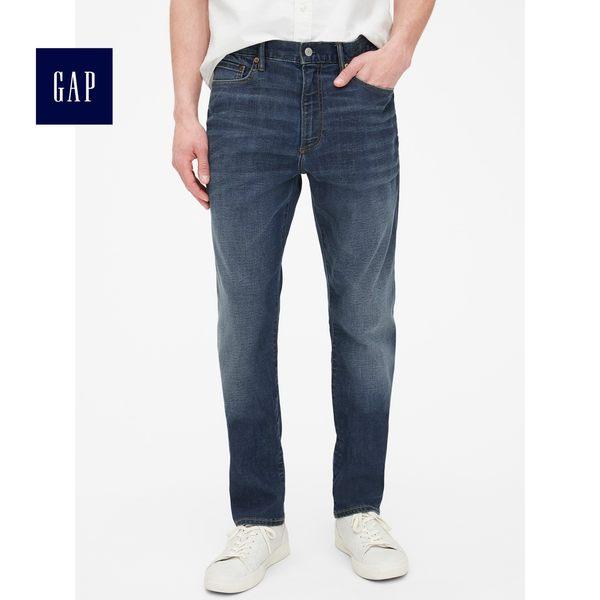 Gap男裝 中腰彈力修身牛仔褲 440703-靛藍色