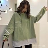 春秋2019年新款衛衣女ins潮韓版學生寬鬆慵懶風個性假兩件cec外套