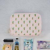 【韓版】超質感280T加厚防水雙層護照包/收納包(仙人掌)