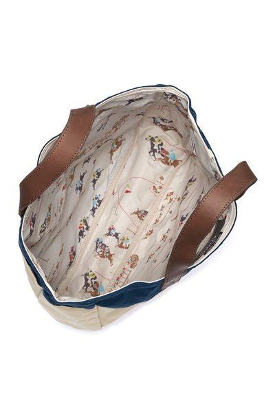 Hsin 65折 出清 現貨 Herschel Brohm 高階 Studio 黑色 黑金 賽馬圖騰 皮革提把 重磅帆布 手提 肩背 托特包