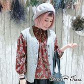 【Tiara Tiara】漢神秋冬 花繪/點點長袖半開襟襯衫(藍花/藍點點/紅花)