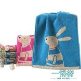 純棉小毛巾卡通洗臉家用全棉童巾小面巾2條裝