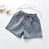 女童牛仔短褲 女童牛仔褲新款洋氣女孩薄款夏裝寶寶兒童裝褲子夏季外穿短褲-Ballet朵朵