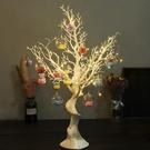 聖誕飾品 圣誕節裝飾白色圣誕樹許愿樹造型樹桌面櫥窗擺件商場裝飾場景布置【快速出貨】