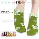 【esoxshop】HAN‧尚 花邊點點花朵精梳棉少女襪│日韓系《棉襪/綿襪/造形短襪/造型短襪》