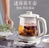 養生壺 小熊養生壺家用多功能電熱燒水壺小迷你玻璃煮茶器花茶壺0.8升  夢藝家