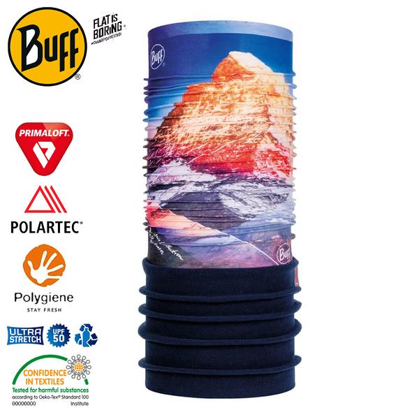 【BUFF 西班牙 Polar 保暖頭巾 Plus 馬特洪峰】120917/圍脖/帽子/口罩/圍巾/快乾透氣