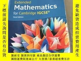 二手書博民逛書店Extended Mathematics for罕見Cambri