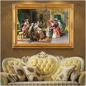 宮廷人物油畫 打印仿真歐式客廳臥室餐廳噴繪裝飾掛畫輕奢客居飾品