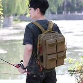 戰術單雙肩背包兩用多功能運動背包旅行小背包戶外路亞包【聚物優品】