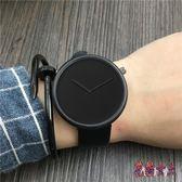男士手錶 韓版時尚學生潮流無秒針手表皮帶女表 BF9274【花貓女王】