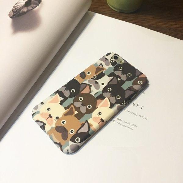 iPhone手機殼 可愛Q版鬥牛犬大集合 磨砂硬殼全包 蘋果iPhone7/iPhone6手機殼