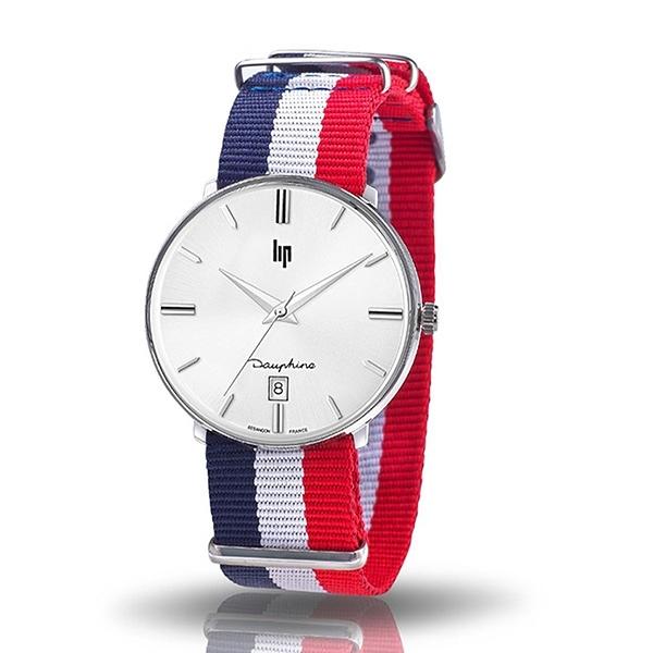 【lip】Dauphine時尚經典法國國旗石英腕錶-國旗色/671439/台灣總代理公司貨享兩年保固