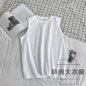 背心男內搭運動夏外穿無袖T恤【時尚大衣櫥】