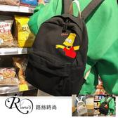 歐美時尚休閒卡通圖案布面雙肩包/2色 (YL0057-XM9071) iRurus 路絲時尚