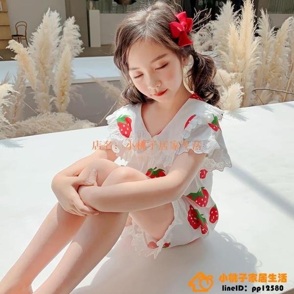 女童睡衣夏季純棉薄款中大童親子女孩家居服春公主13歲兒童組合裝【小桃子】