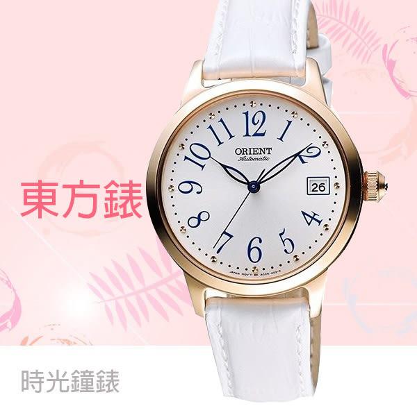 ORIENT 東方錶 機械錶 玫瑰金女錶 FAC06002W 免運/35mm