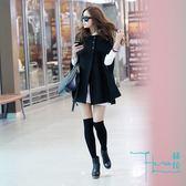 【Hera 赫拉】韓版大衣斗篷式保暖外套/披肩 (黑色)