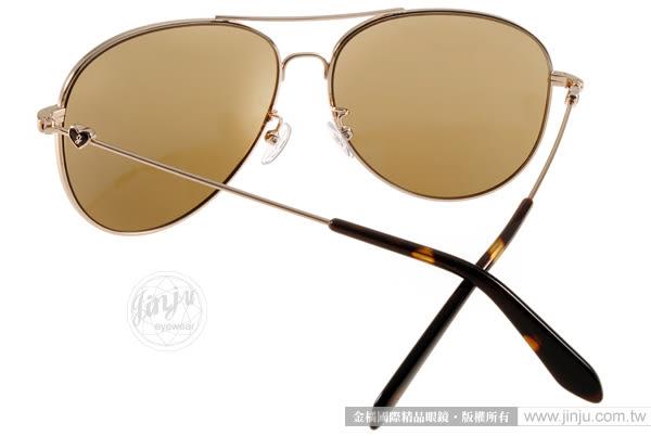 JILL STUART 太陽眼鏡 JS10004 C03 (金-琥珀)  簡約別緻甜美飛官款 # 金橘眼鏡