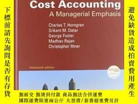 二手書博民逛書店Cost罕見Accounting: A Managerial Emphasis And Myaccountingl