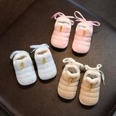 店長推薦 寶寶棉鞋0-1步前鞋軟底冬嬰兒鞋子3-6-12個月幼兒布鞋女童保暖鞋