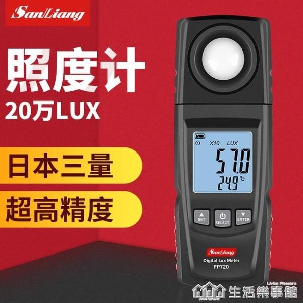 日本三量光照度計儀測光儀亮度計流明測試儀高精度測光儀光度計 NMS樂事館新品
