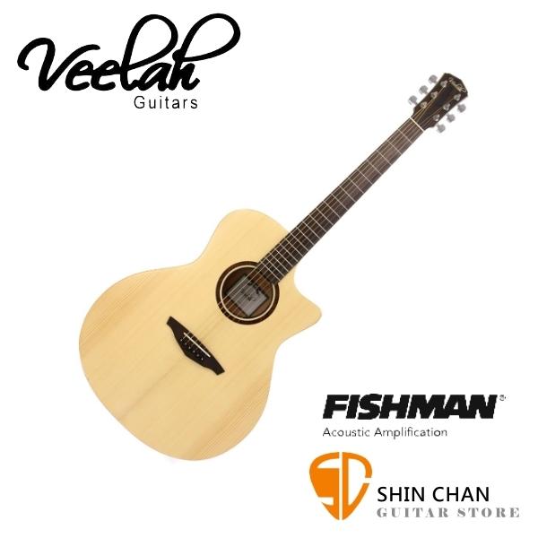 Veelah V1-GACE 單板 可插電 民謠吉他 GA桶身 雲杉面板 贈原廠吉他袋/V1專用(全配件)