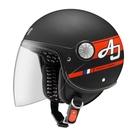 【東門城】ASTONE AJ-AW15(平光黑/紅) 3/4半罩式安全帽