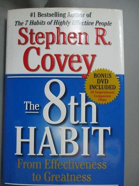 【書寶二手書T1/勵志_XBE】The 8th Habit-From effectiveness to Greatness_Stephen R.Covey