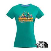 The North Face 女 LOGO 風格T-Shirt 海島綠 CNJ1