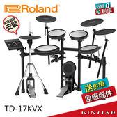 【金聲樂器】Roland TD-17KVX 電子鼓 網狀鼓面 獨立Hi-Hat 配備藍芽 分期零利率