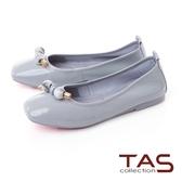 TAS 鑲崁串珠漆皮娃娃鞋天空藍