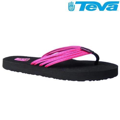 TEVA《女款》超輕量舒適記憶鞋床織帶夾腳拖 Mush Adapto - 霓虹粉