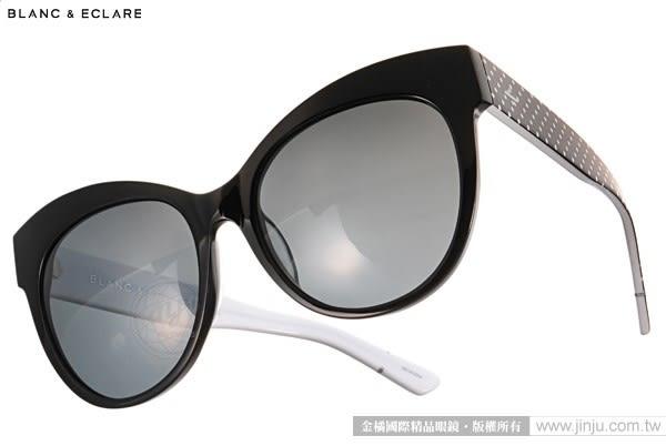 BLANC&ECLARE 太陽眼鏡 PARIS BW (黑-白點) 潔西卡個人品牌 城市系列 -- 巴黎 # 金橘眼鏡