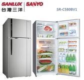 【佳麗寶】-留言加碼折扣(台灣三洋SANLUX)580公升直流變頻冰箱 / SR-C580BV1
