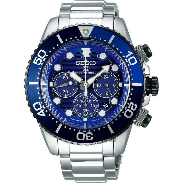 【5年保固卡】SEIKO精工 Prospex Diver 愛海洋太陽能計時手錶 V175-0AD0A(SSC675P1)