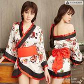 女性感情趣內衣服激情套裝日本緊身和服挑逗制服騷三點式血滴子 鹿角巷