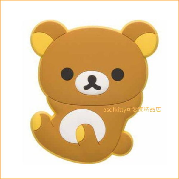 asdfkitty可愛家☆拉拉熊造型磁鐵-可黏冰箱.電腦.門板...等-日本正版商品