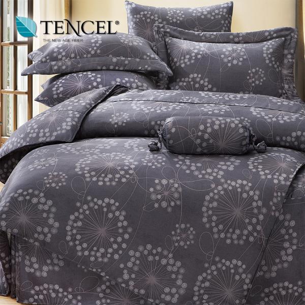 【貝淇小舖】天絲床包四件式 100%萊賽爾天絲雙人5x6.2尺 鋪棉兩用被床包組 附天絲吊卡 帕洛馬