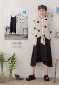 A-SO-BI韓系-套裝-綁結細肩帶洋裝+大圓點點襯衫【R20549-14】