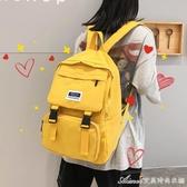 風少女雙肩包女新款時尚潮流學生書包韓版大容量帆布背包 艾美时尚衣橱