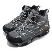 Merrell 戶外鞋 Moab 2 Mid GTX Wide 寬楦 灰 綠 女鞋 運動鞋 【PUMP306】 ML06060W