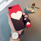 蚕心形iphone6splus手機殼蘋果8簡約個性7手環X日韓7p女潮創意