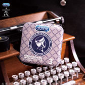★全館免運★熱銷商品 保險套套 Durex杜蕾斯 x Porter 更薄型保險套鐵盒限定版 3入 灰藍格紋