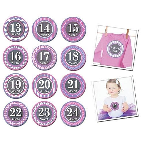美國Sticky Bellies 寶寶月份貼紙13-24M(小小公主)[衛立兒生活館]