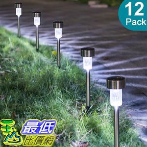 [106美國直購] 太陽能燈12入 Sunnest Sunnest Solar Powered  Garden Lights Outdoor Stainless Steel