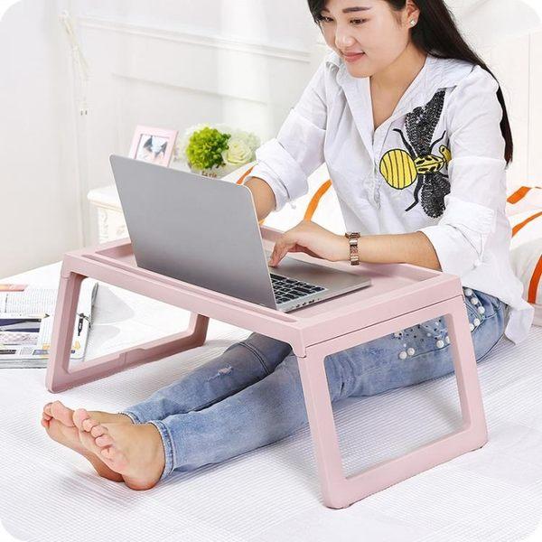 (店主嚴選)可折疊多用筆電電腦桌床上懶人桌簡約學生宿舍書桌寫字小桌子xw