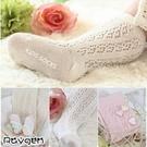 韓版 新款 薄棉 鏤空 大網眼 防滑膠底 嬰幼兒童 寶寶 中筒襪